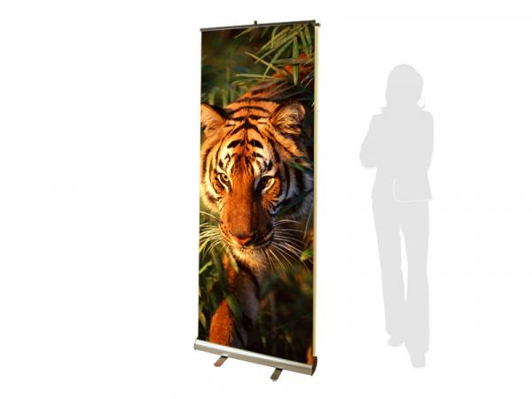 PRONTO2 2-Sided Retractable Banner Stand - Silver