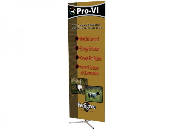 SPRINT Telescopic Banner Stand - Lambda Graphic Shown - Silver