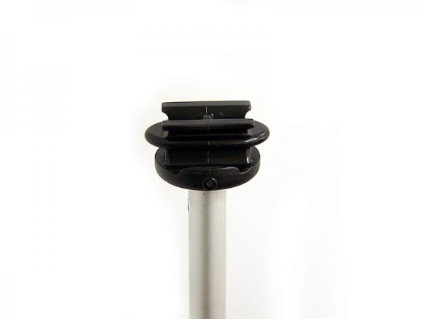 SPRINT Telescopic Banner Stand - Top Mast Hardware Detail Shown - Silver