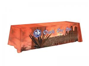 8ft Table Throw Full Dye Sublimation Image all sides and Top