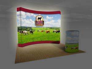 BACKLIT VBURST 10' Curved Fabric Pop-up