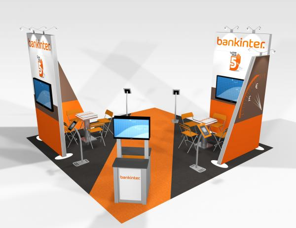 RE-9074 Bankinter Trade Show Rental Exhibit -- Image 3