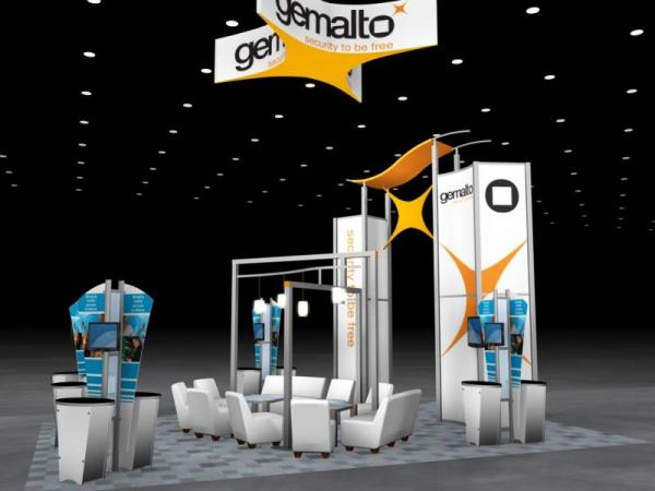 RE-9059 Rental Exhibit / 20� x 30� Island Trade Show Display � Image 2