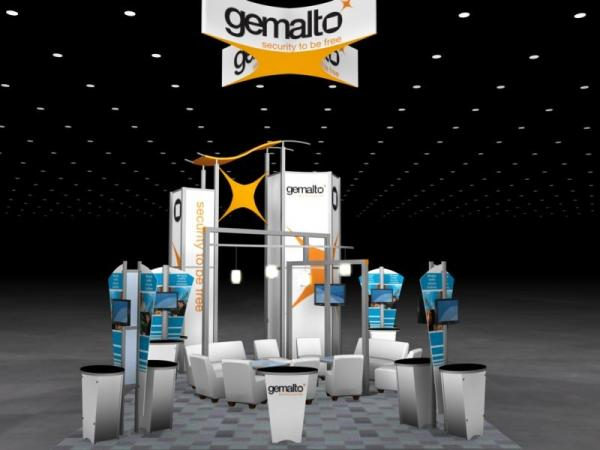 RE-9059 Rental Exhibit / 20� x 30� Island Trade Show Display � Image 1