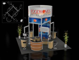 RE-9003 Rental Exhibit / 20� x 20� Island Trade Show Display � Image 2