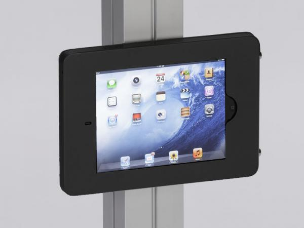MOD-1318 Swivel iPad Clamshell Frame for Extrusion -- Black