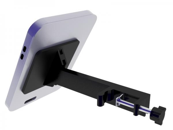 TF-1317 Rotating iPad Clamshell with Clamp -- Silver