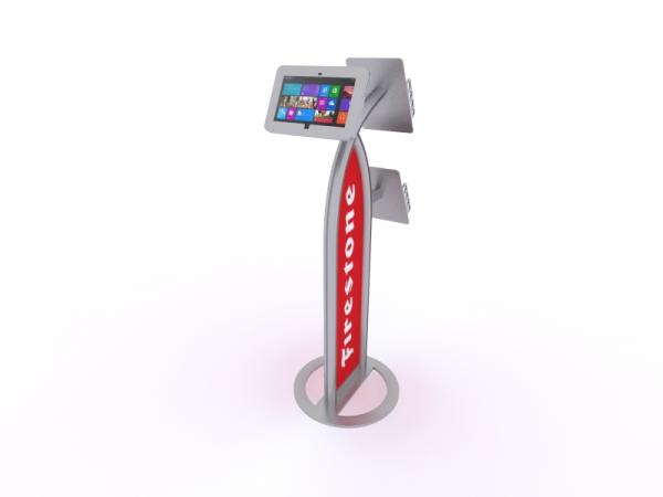 MOD-1353M Portable Surface 2 Kiosk -- Silver