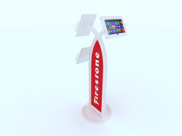 MOD-1353M Portable Surface 2 Kiosk -- White
