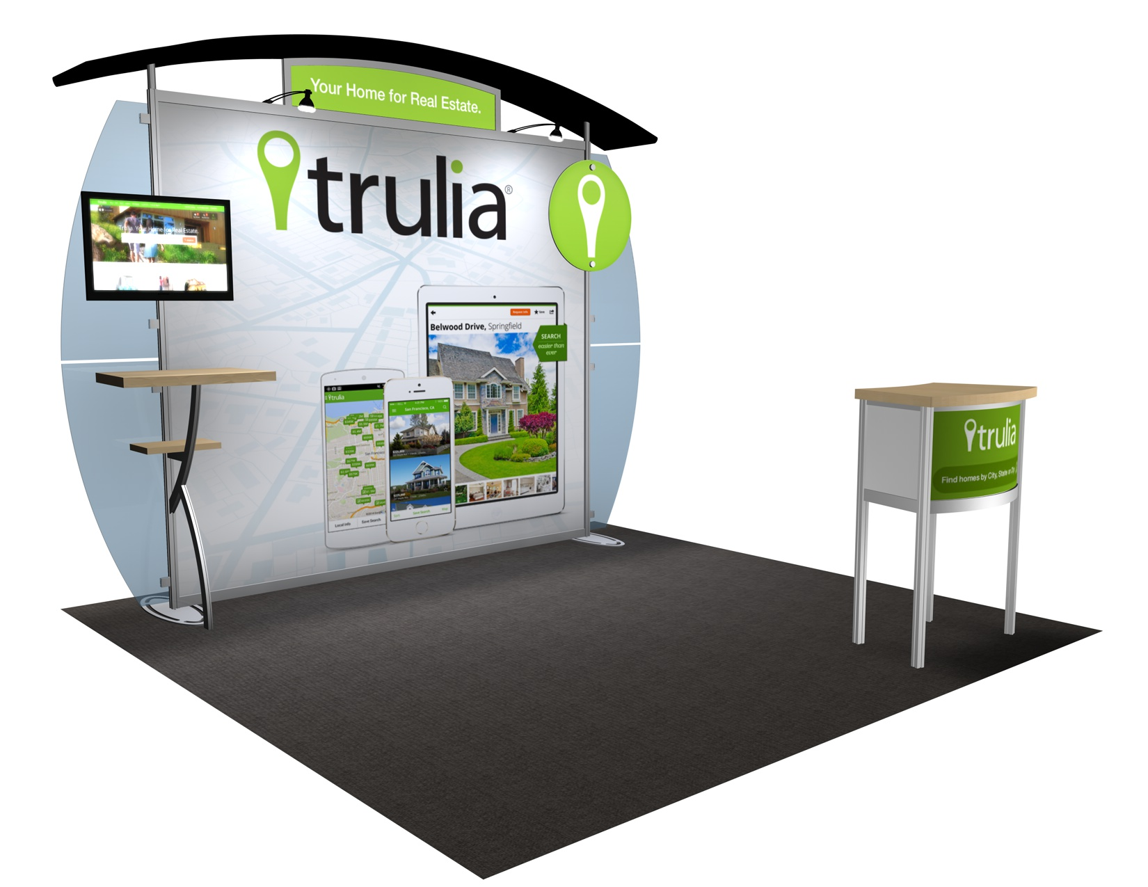 VK-1231 Portable Hybrid Trade Show Exhibit -- Convex Wings