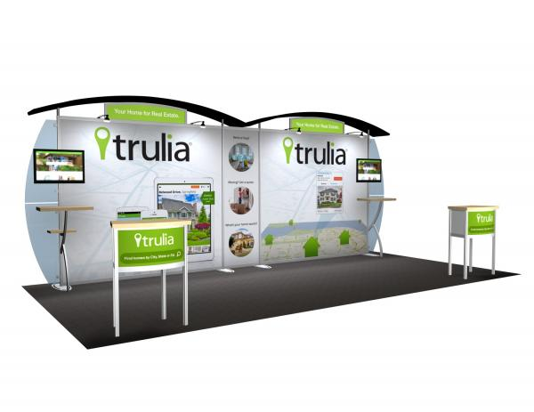 VK-2113 Portable Hybrid Trade Show Exhibit -- Convex Wings